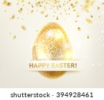 easter egg with curves of...