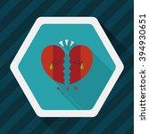 valentine's day broken heart... | Shutterstock .eps vector #394930651