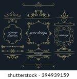 set of vintage elements. vector ... | Shutterstock .eps vector #394939159