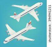 passenger airplane airliner.... | Shutterstock .eps vector #394941211