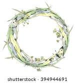 watercolor illustration ... | Shutterstock . vector #394944691
