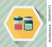 kitchenware sauce bottle flat... | Shutterstock .eps vector #394945471