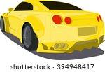 Gold Cartoon Sport Car  Back...