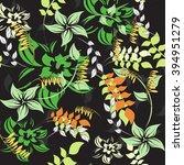 flower floral seamless  pattern  | Shutterstock .eps vector #394951279