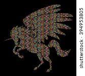 fly unicorn silhouette designed ...   Shutterstock .eps vector #394953805