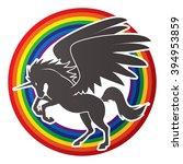 fly unicorn silhouette designed ...   Shutterstock .eps vector #394953859