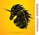 unicorn head designed using...   Shutterstock .eps vector #394956055