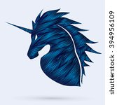 unicorn head designed using...   Shutterstock .eps vector #394956109