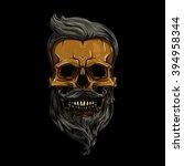 vector  illustration. skull... | Shutterstock .eps vector #394958344