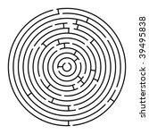 round maze  vector art... | Shutterstock .eps vector #39495838