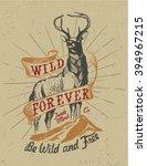 deer   wild deer   nable deer   ... | Shutterstock .eps vector #394967215