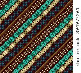 ethnic abstract seamless... | Shutterstock .eps vector #394972261