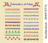 cross stitch pattern for... | Shutterstock .eps vector #394975771