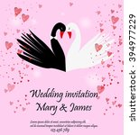 wedding invitation with two... | Shutterstock .eps vector #394977229