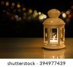 ramadan lantern with night...   Shutterstock . vector #394977439