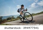 asian men are cycling road bike ... | Shutterstock . vector #394977541