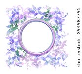 spring background  wreath with... | Shutterstock . vector #394987795