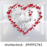 mothers day with concept hearts | Shutterstock . vector #394991761