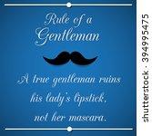 rule of a gentleman  ... | Shutterstock . vector #394995475