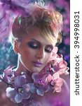 fantasy beautiful woman... | Shutterstock . vector #394998031