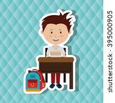 students back to school  design    Shutterstock .eps vector #395000905