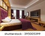 hotel   double bedroom 3   Shutterstock . vector #395005399
