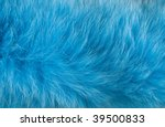 Blue Artificial Fur For Textur...