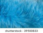 Blue Artificial Fur For Textur...