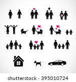 family icon set vector  | Shutterstock .eps vector #395010724