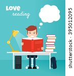 Reading Boy. Read Books Concep...