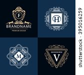 monogram design elements... | Shutterstock .eps vector #395016259