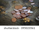 place the coin on the buddha's... | Shutterstock . vector #395023561
