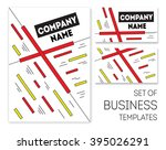 business templates set and... | Shutterstock .eps vector #395026291