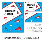 business templates set and... | Shutterstock .eps vector #395026315