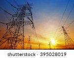 wire electrical energy at... | Shutterstock . vector #395028019