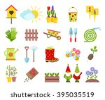 garden tools and other elements ... | Shutterstock .eps vector #395035519