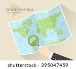 south america vector map. world ... | Shutterstock .eps vector #395047459