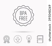 bpa free icon. bisphenol...