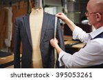 taking measures from jacket | Shutterstock . vector #395053261