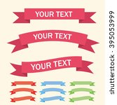 vector ribbons  banners ... | Shutterstock .eps vector #395053999