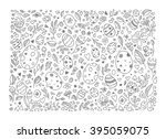 easter background  egg pattern. ... | Shutterstock .eps vector #395059075