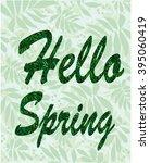 spring vector typographic... | Shutterstock .eps vector #395060419
