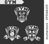 logo for fitness and gym.... | Shutterstock .eps vector #395068105