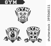 logo for fitness and gym.... | Shutterstock .eps vector #395068111