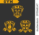logo for fitness and gym.... | Shutterstock .eps vector #395068147