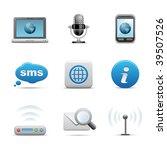 communication icons | Shutterstock .eps vector #39507526