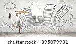 architect designer and her... | Shutterstock . vector #395079931