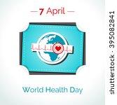 vector poster for 7 april ... | Shutterstock .eps vector #395082841