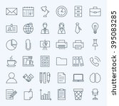 line business office icons set. ...