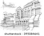 touristic complex  chinese hotel | Shutterstock . vector #395084641